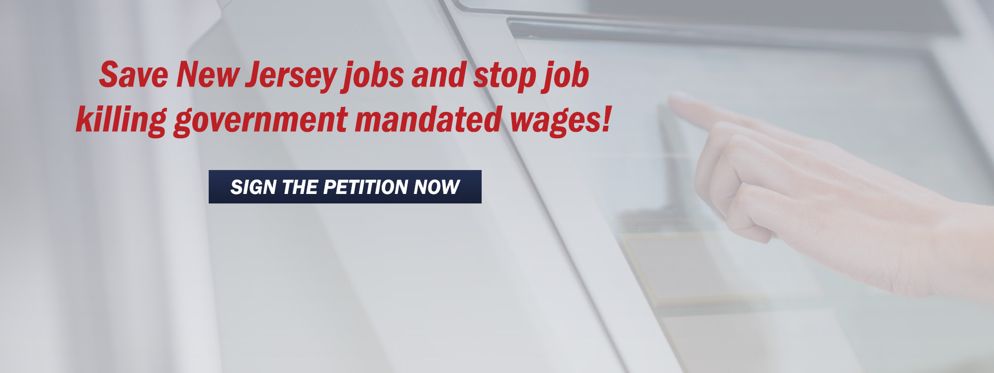 Save New Jersey jobs and stop job killing government mandated wages!
