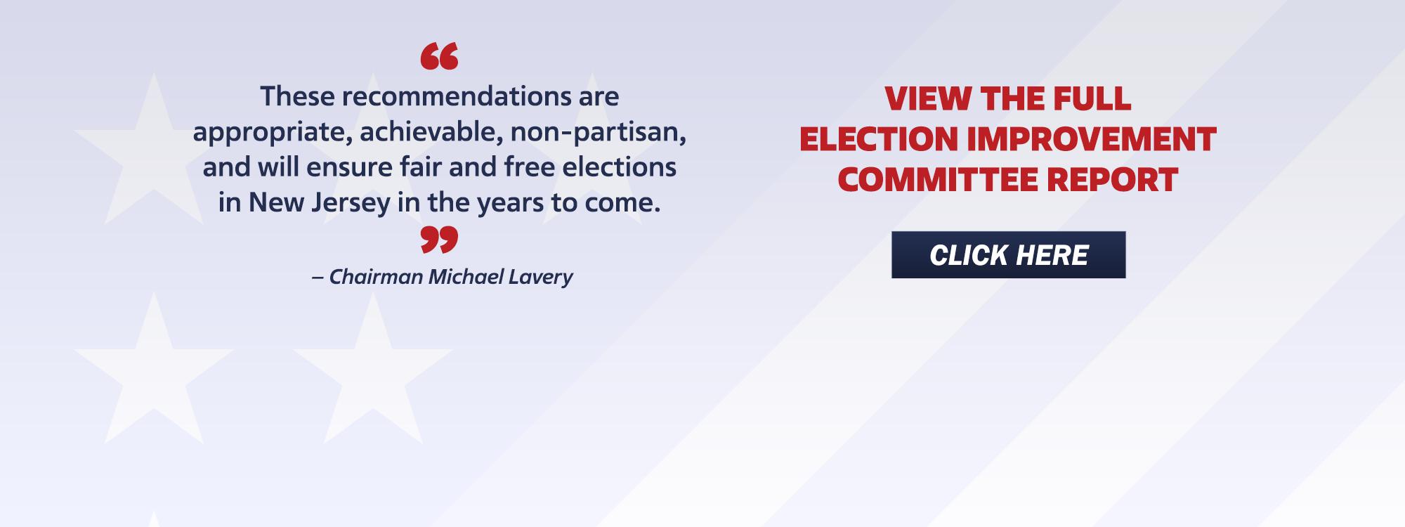Election Improvement Committee Report