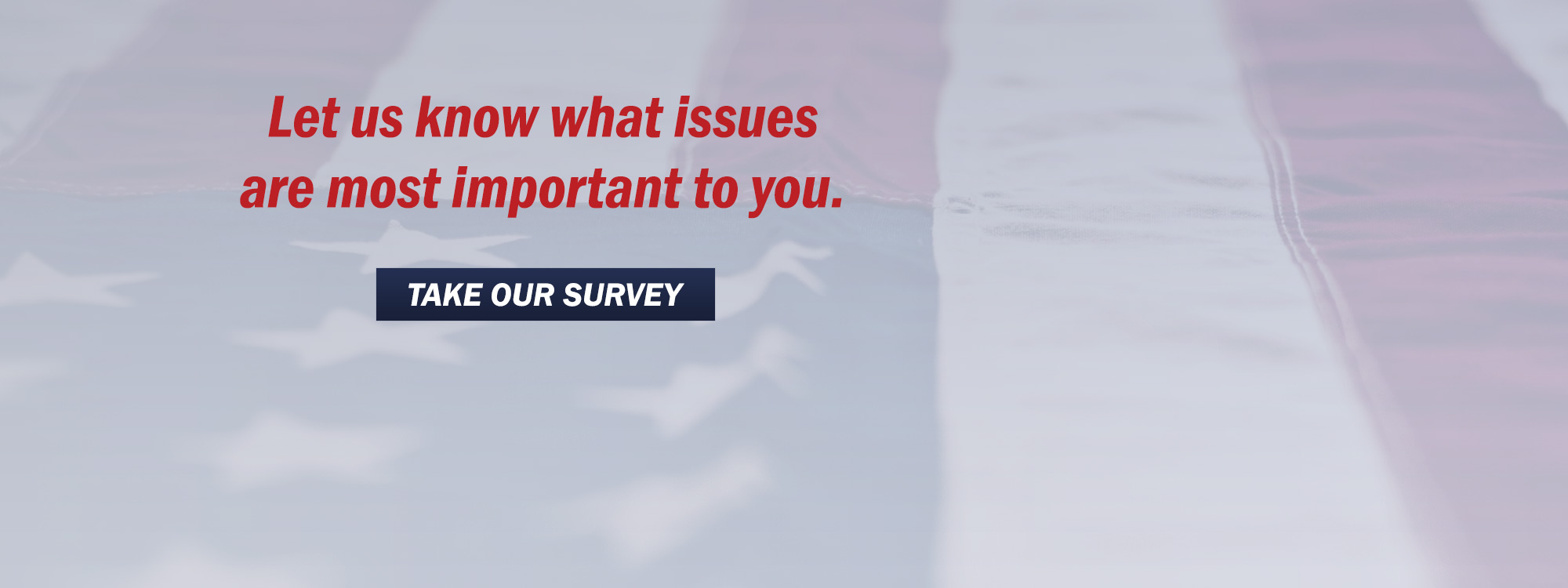 Let us know what issues are most important to you.