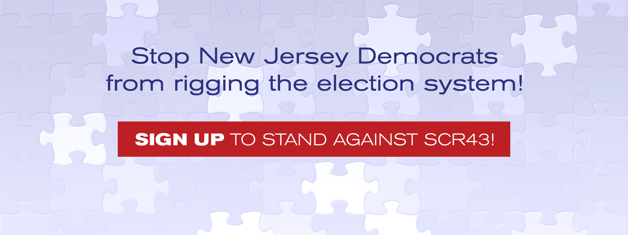 Stop New Jersey Democrats from rigging the election system!